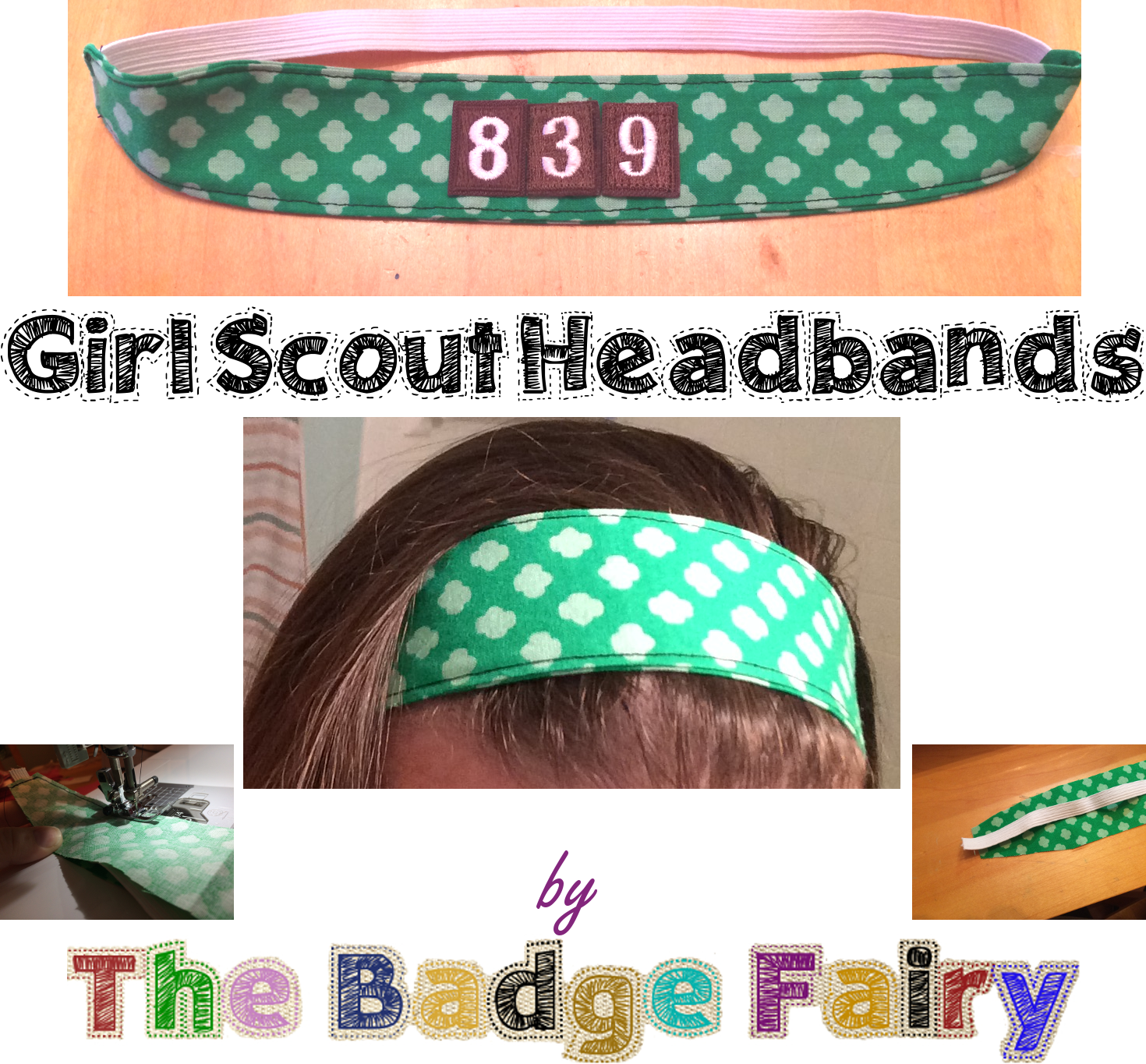 Girl Scout Headbands - customizable and reversible