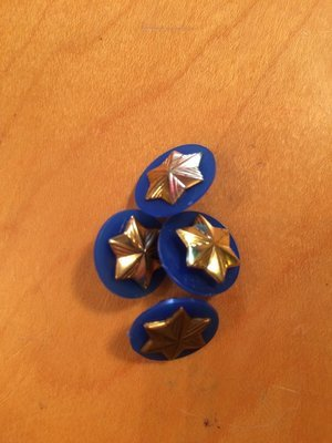 Vintage/used Daisy star pin and disc
