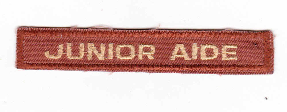 Junior Aide patches