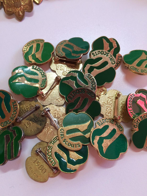 JCSA green trefoil pin