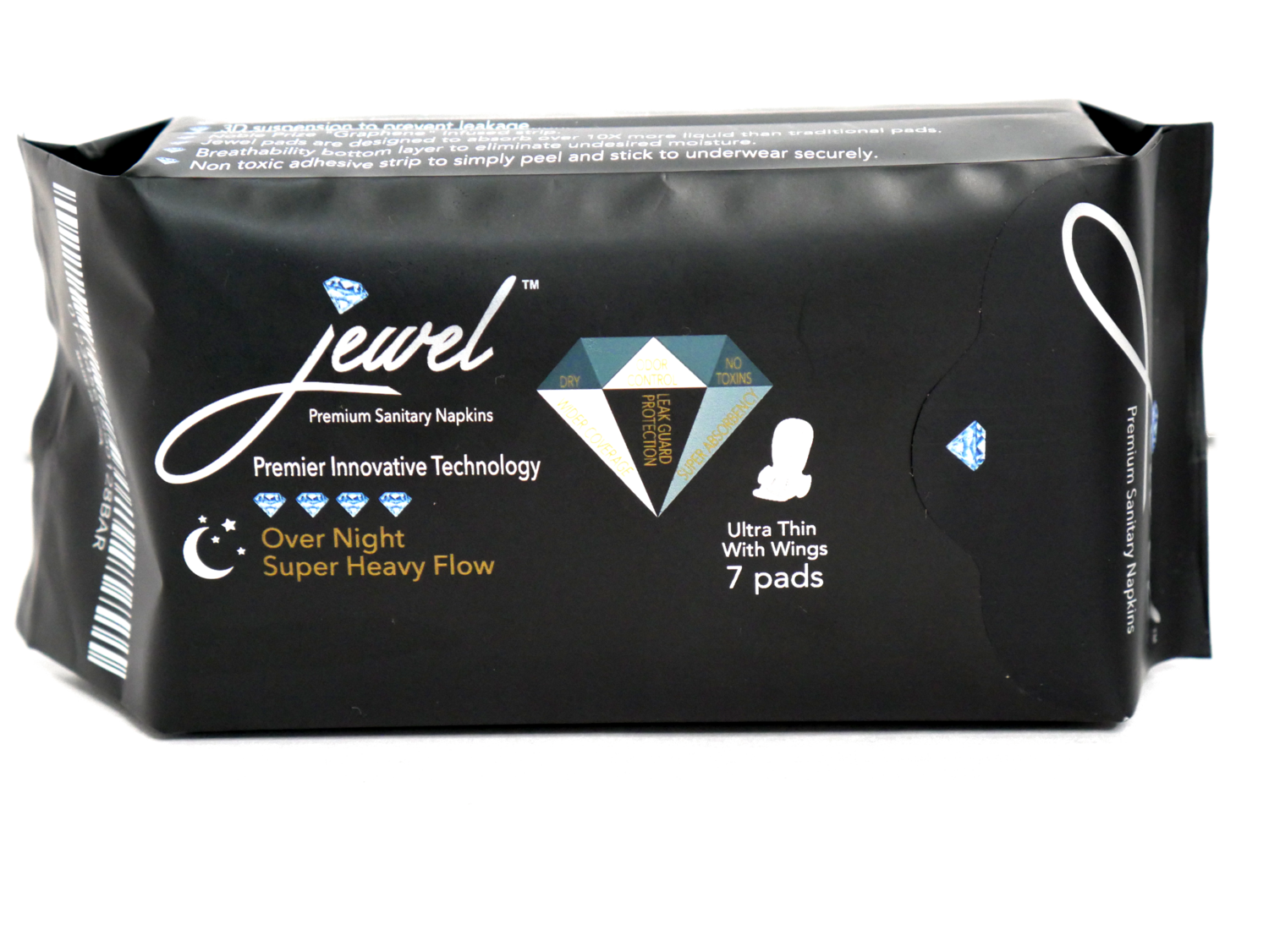 ​JEWEL PADS: OVERNIGHT USE FOR SUPER HEAVY FLOW