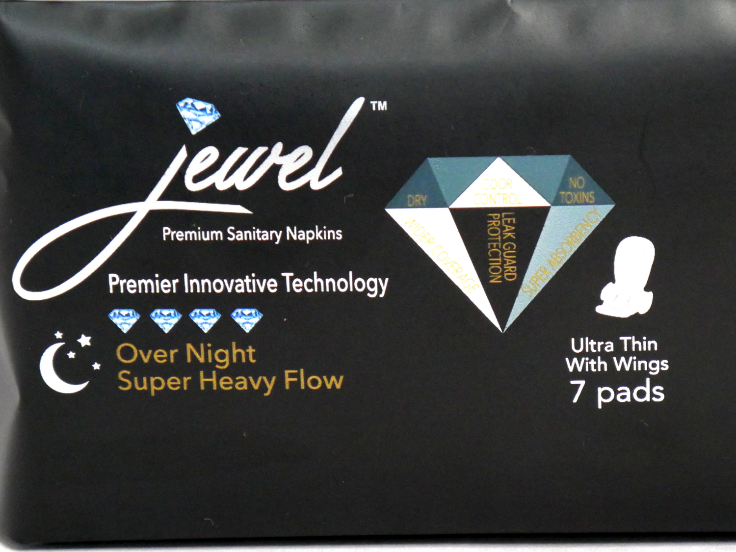 JEWEL PADS: OVERNIGHT USE FOR SUPER HEAVY FLOW