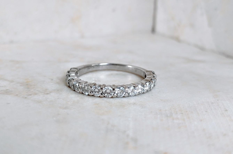 7/8 Carat  Diamond Band SI+, G/H+ 14k White Gold Sz 5.75