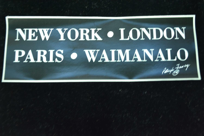 NY LONDON PARIS WAIMANALO STICKER
