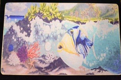 Hawaii State Fish Wooden Block Print 6x8