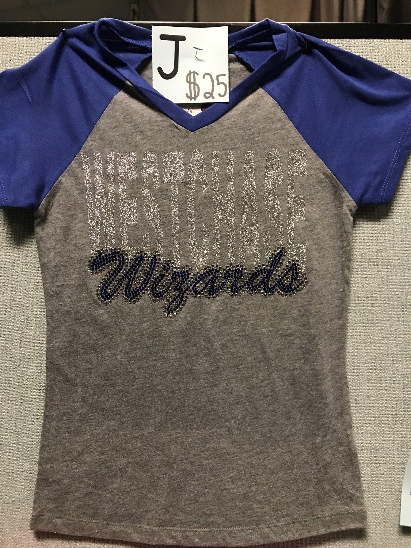 Westchase Wizards V-Neck Glitter & Rhinestones Combo