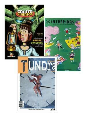 Historias de Brujas y Dragones + Intrépidas Magazine + La Tundra