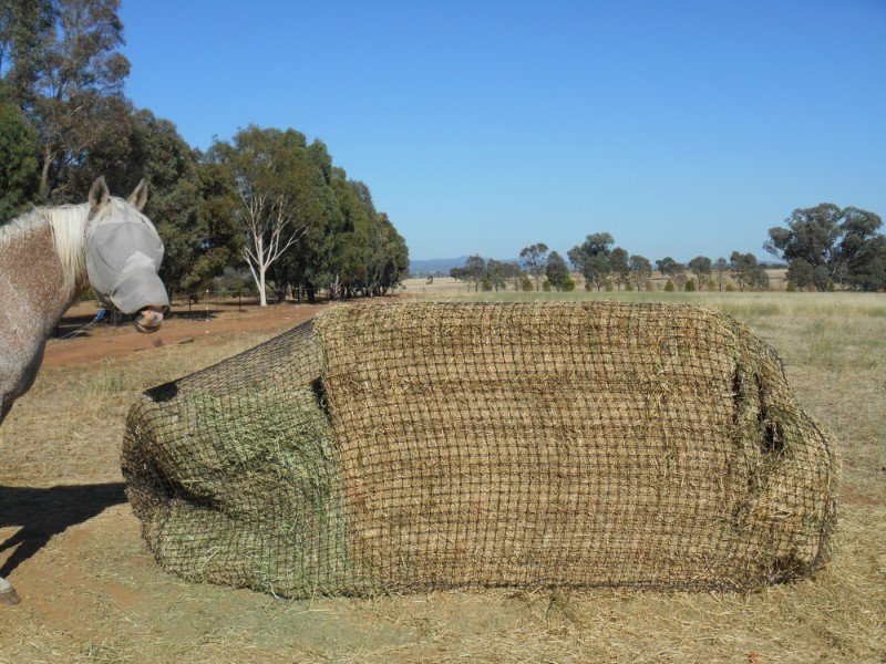 Holds hay together so it doesn't scatter and get wasted