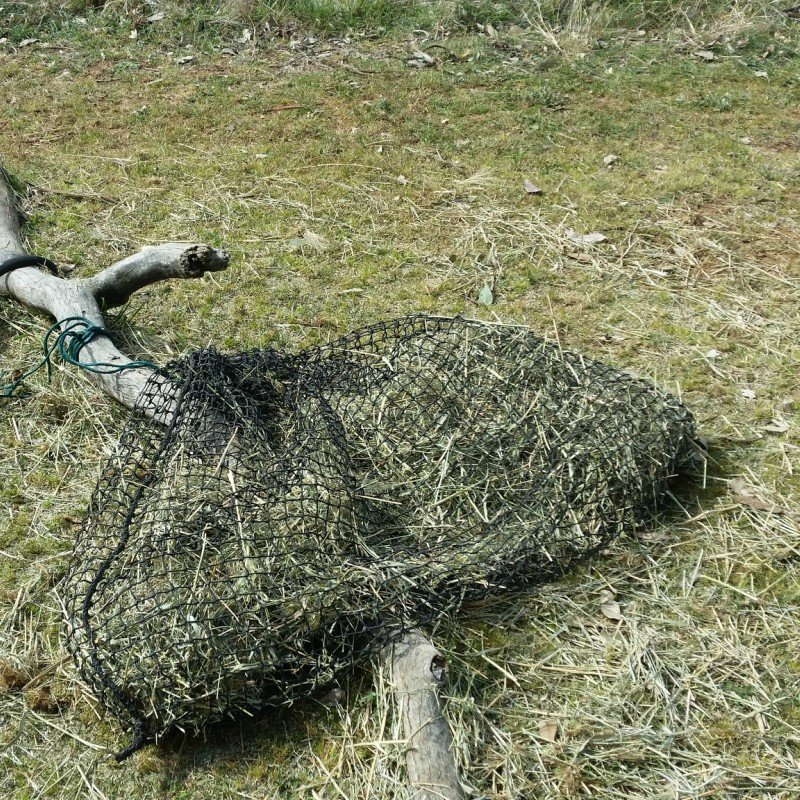 3cm GutzBusta Large Slow Feed Hay Net - 48ply - nearly eaten and minimal wastage