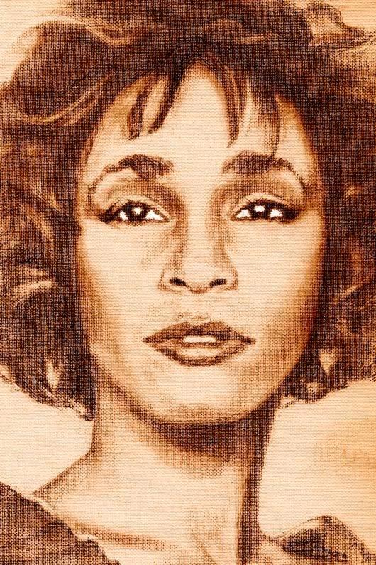 "Whitney Houston Portrait Small Poster 8.5""x11"" 00002"