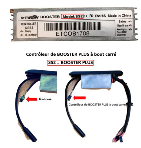 Upgrade nouveau Afficheur et Controleur fiche carrée 2018 pour Booster PLUS