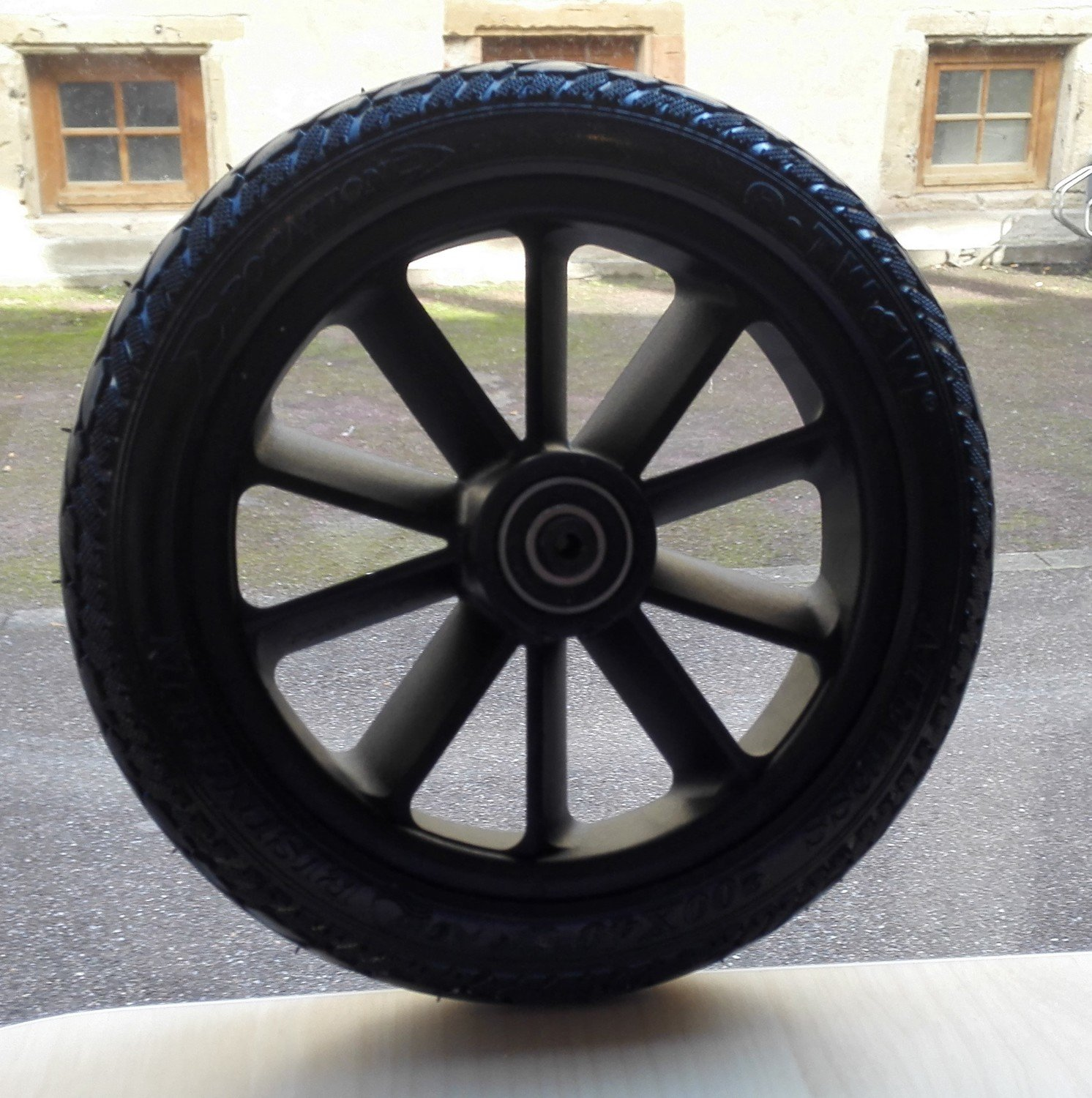 Roue gomme tendre
