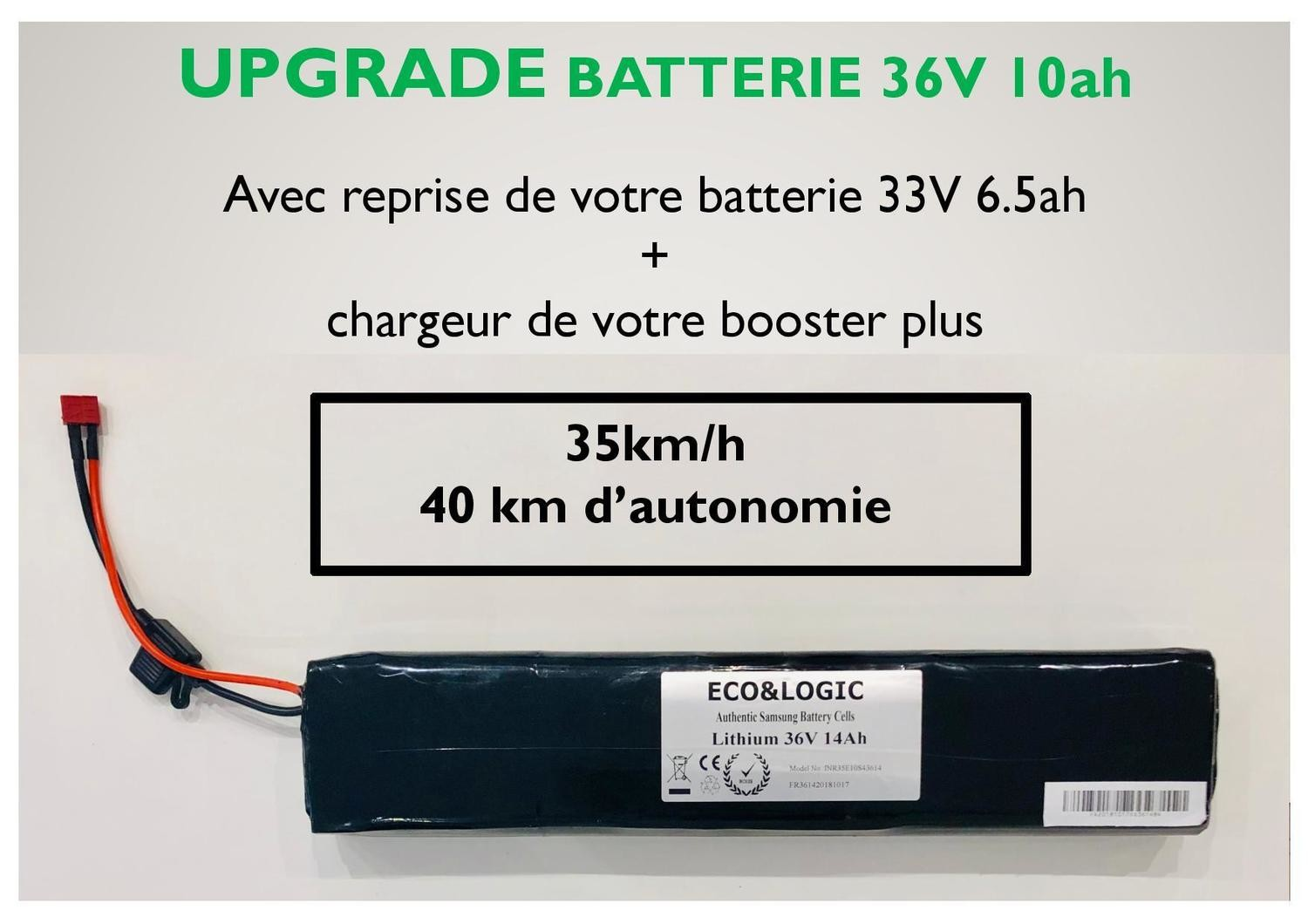 UPGRADE BATTERIE 36V 10.5 Ah