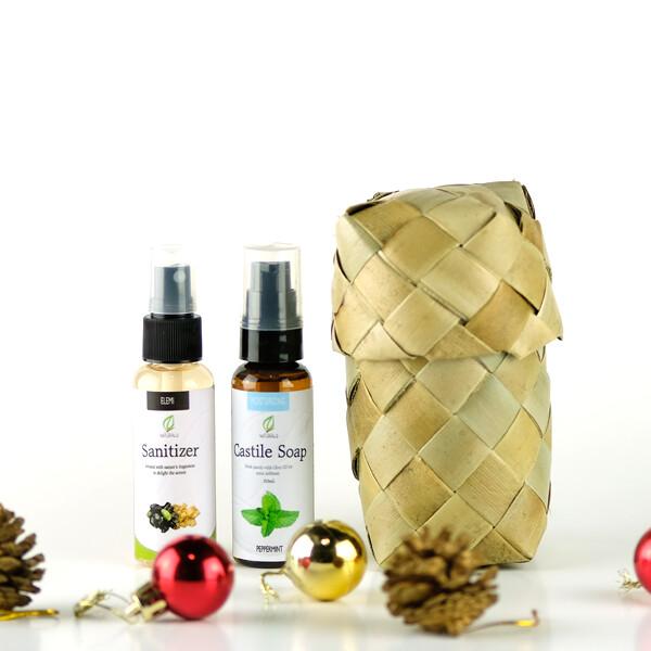Holiday Sanitizer and Soap Bundle with Pandan Box