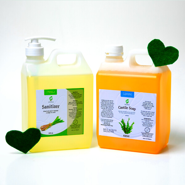 Sanitizer and Castile Soap Bundle 1 Liter
