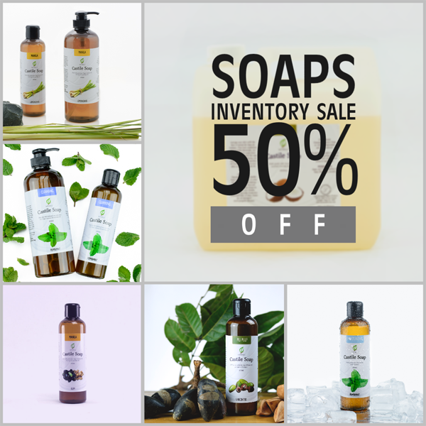 Castile Soaps Inventory Sale
