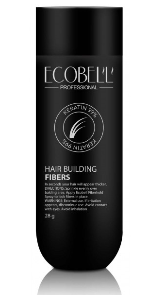 Ecobell 99% Keratin Hair Building Fibers Jar 28g