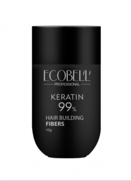 Ecobell 99% Keratin Hair Building Fibers 10G Medium Brown