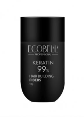 Ecobell 99% Keratin Hair Building Fibers 10G Medium Brown