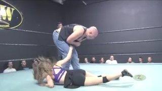 Emily vs John Rockhold (Woman vs Man Intergender Wrestling)