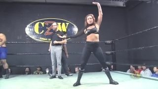 Kristen Stadtlander vs Stefan Pennington (Man vs Woman Inter Gender Pro Wrestling)