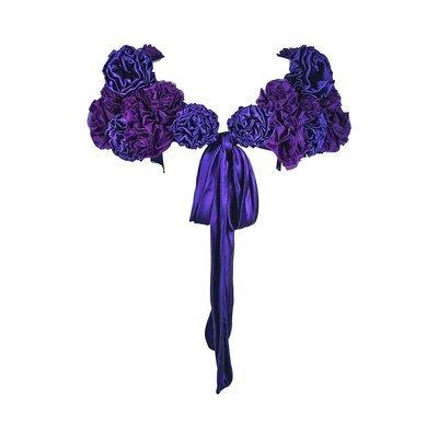 ELIZABETH MASON COUTURE Made to Order Purple Silk