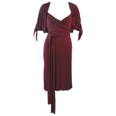 ELIZABETH MASON COUTURE Bamboo Jersey Cocktail Dress with Wrap Made To Order