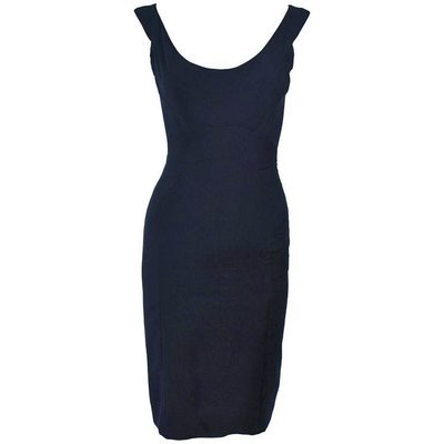 ELIZABETH MASON COUTURE Black Silk Cocktail Dress Made to Order