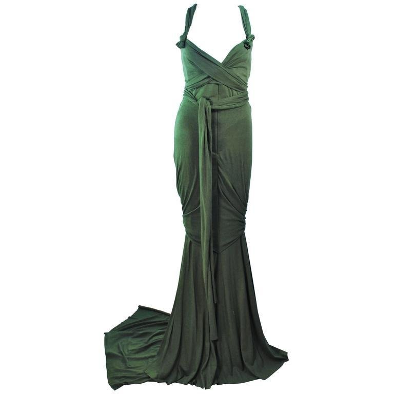 ELIZABETH MASON COUTURE Bamboo Jersey Eco Chic Draped Gown