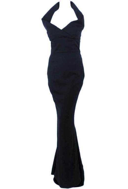 Elizabeth Mason Couture Black Silk Doupioni 'Maria' Gown Made-to-Measure
