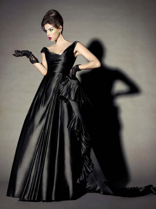 ELIZABETH MASON COUTURE 'Tiffany' Made To Measure Silk Ball Gown