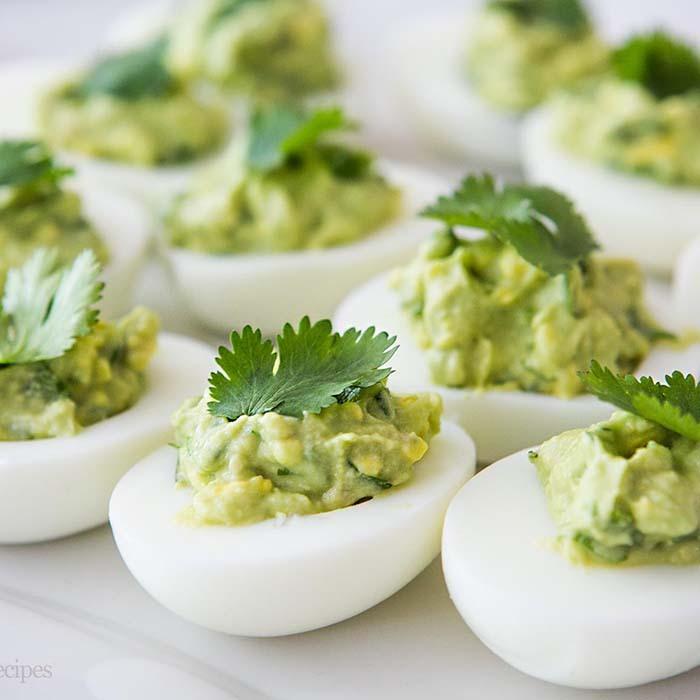 Guacamole pimento studded deviled eggs 00092