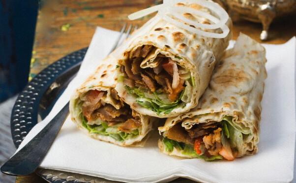 Shawafel (Chicken + Falafel) Lavash Wrap