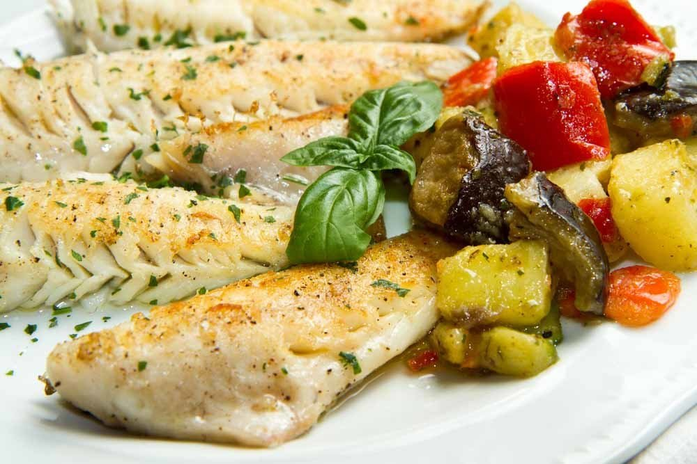 Grilled Tilapia & Roasted Vegetables 1121