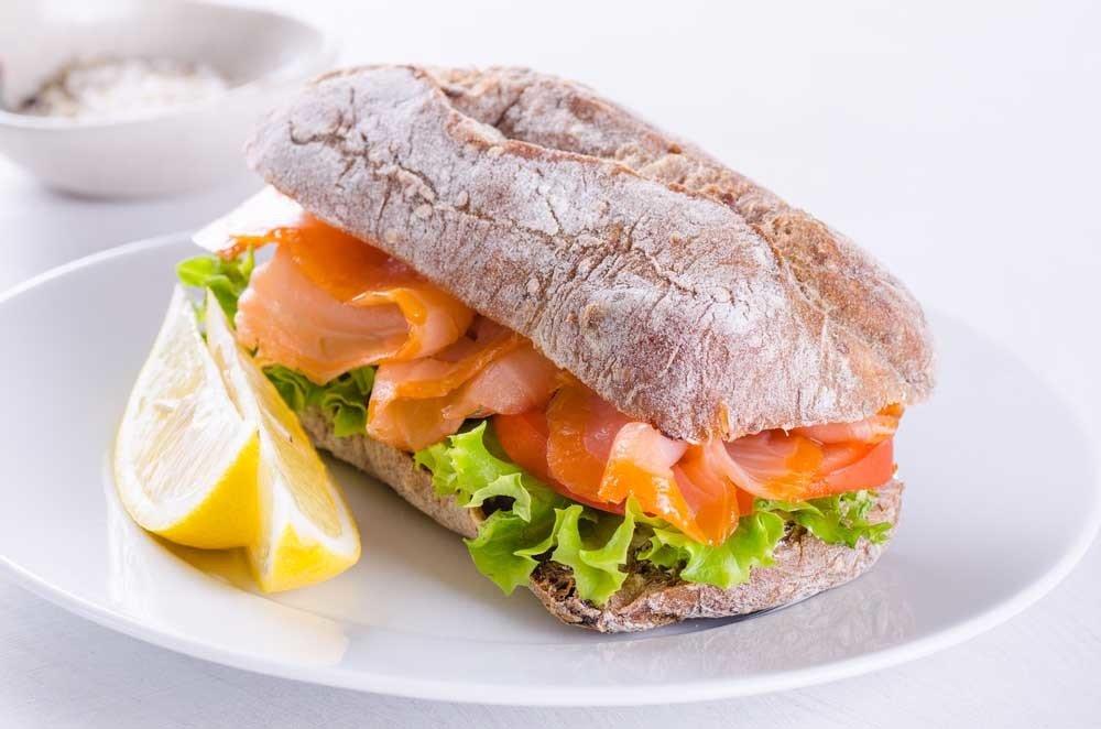 Smoked Salmon Sandwich 1821