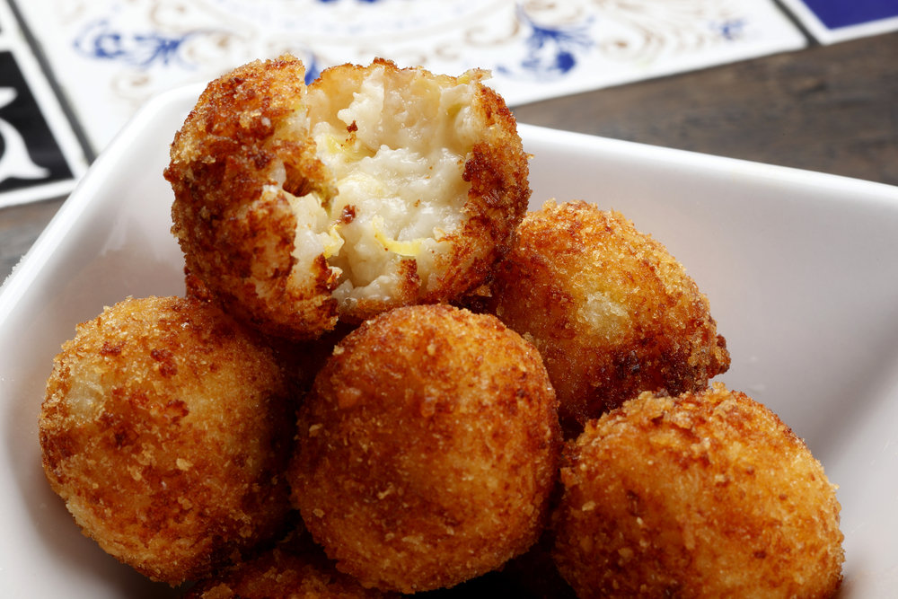 Risotto Balls with Cheese & Herbs