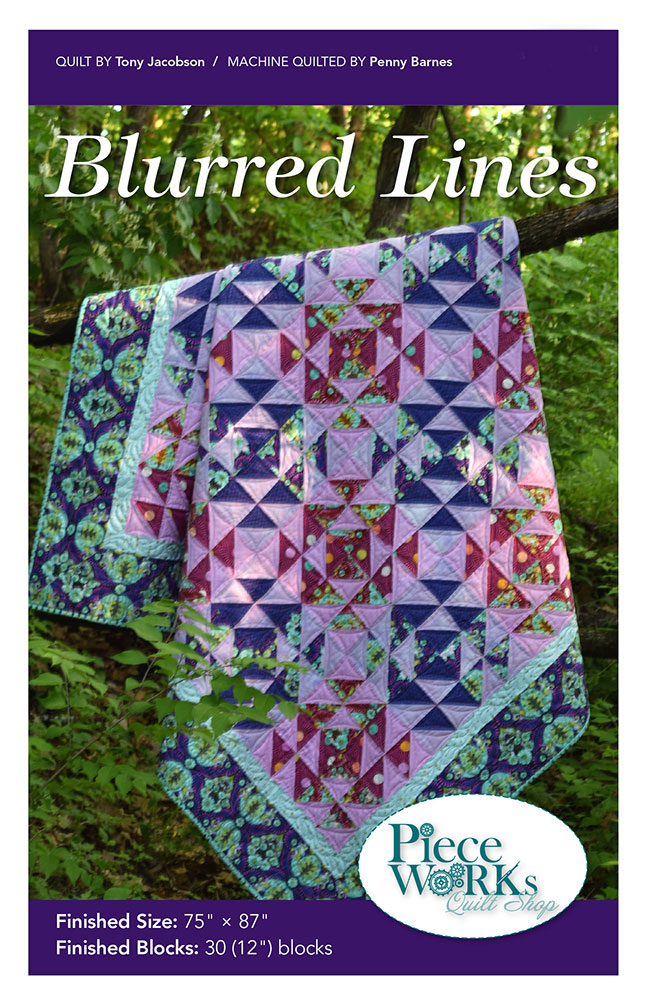 """Blurred Lines"" Quilt Pattern PDF Blurred Lines"