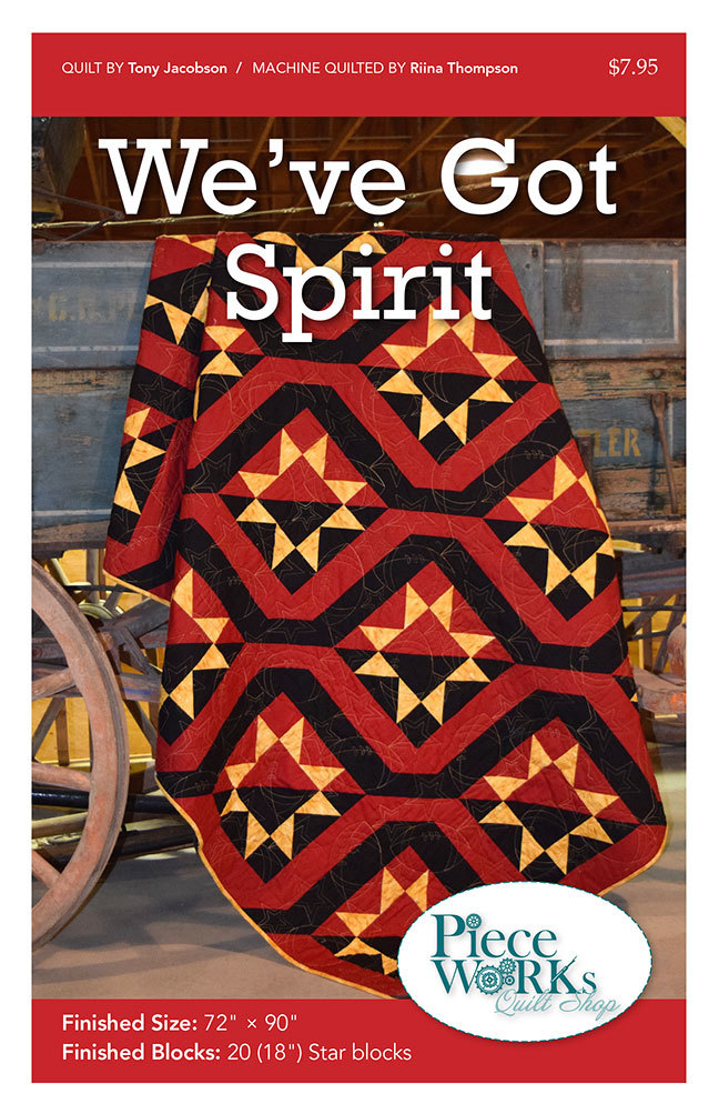 """We've Got Spirit"" Quilt Pattern PDF We've Got Spirit"