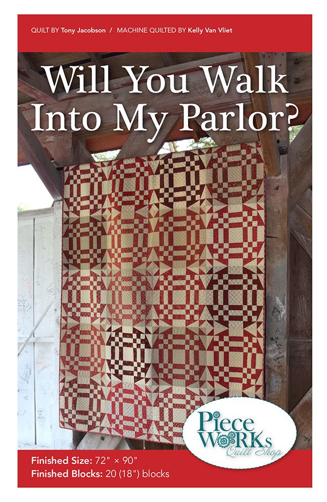 """Will You Walk Into My Parlor?"" Quilt Pattern PDF WalkIntoMyParlor"