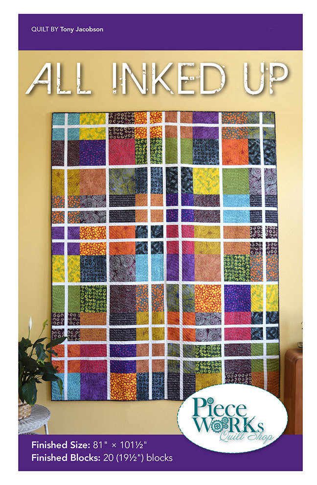 """""""All Inked Up"""" Quilt Pattern PDF All Inked Up"""