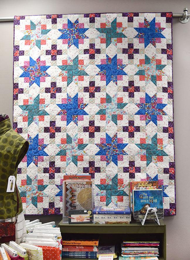 """Tricolor Stars"" Quilt Pattern PDF"