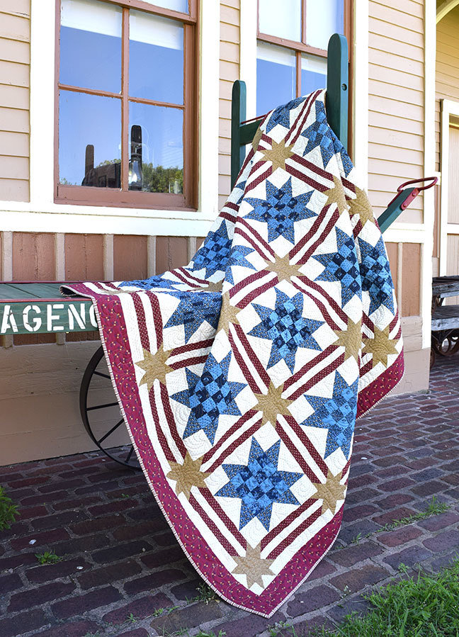 """Sixteen Patch Valor Star"" Quilt Pattern PDF Sixteen Patch Valor Star"