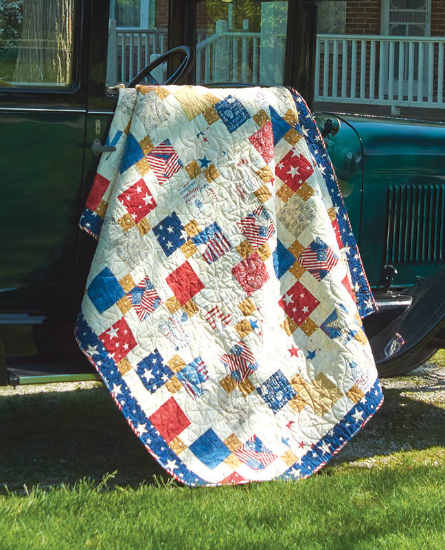 """Patriotic Disappearing Nine Patch"" Quilt Pattern PDF Patriotic Disappearing Nine Patch"