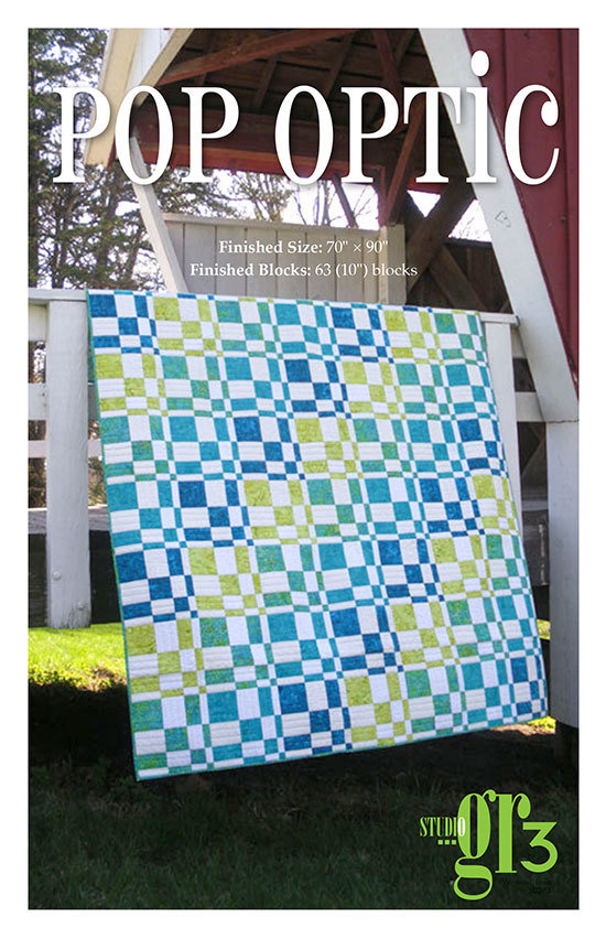 """Pop Optic"" Quilt Pattern PDF Pop Optic"