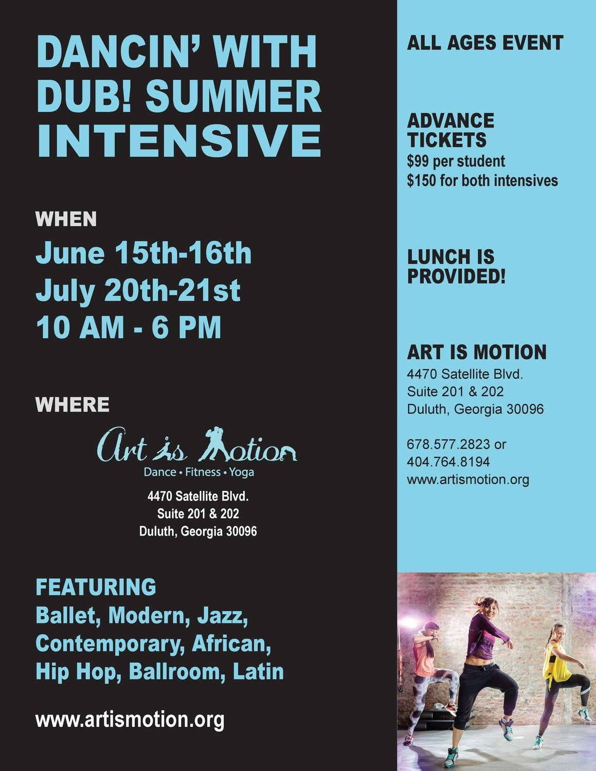 2 Summer Dance Intensives