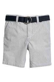 Shorts with a belt