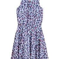 Light blue patterned Sleeveless dress