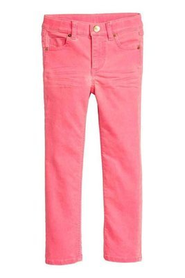 Neon pink Twill trousers