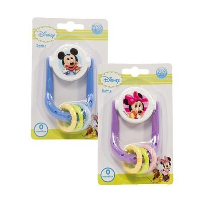 Mickey/Minnie Space ship rattle(PINK)