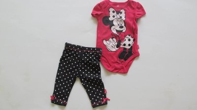 2pc Minnie mouse Layette Set